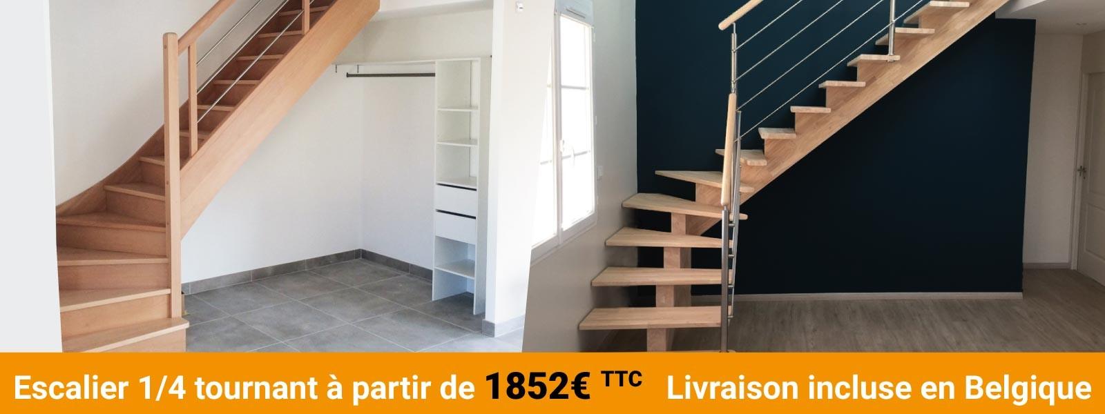 Acheter un escalier sur-mesure partout en Belgique, c'est simple