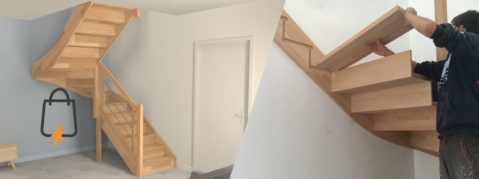 Oéba fabricant d'escaliers sur mesure en kit à installer vous même livré dans toute la Belgique