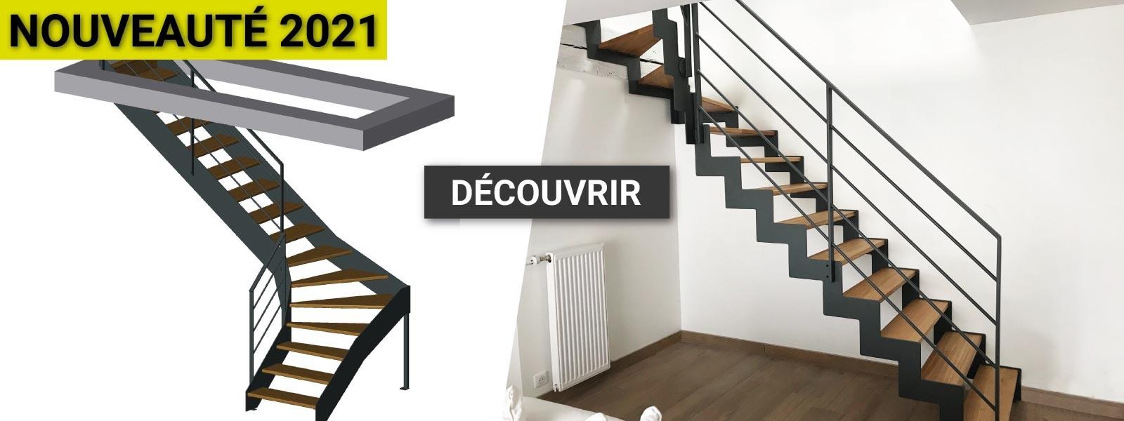 Oéba lance la vente en ligne d'escaliers métal sur mesure
